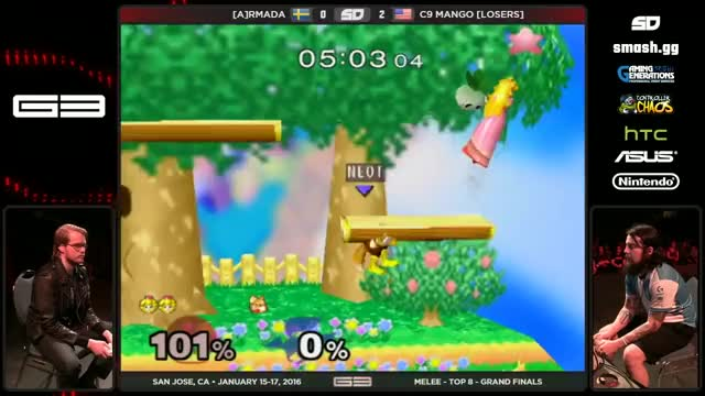 Armada's stitchface 0 to death on Mango | GENESIS 3 – [A]rmada (Fox/Peach) vs C9.Mang0 (Fox) – SSBM – Grand Finals