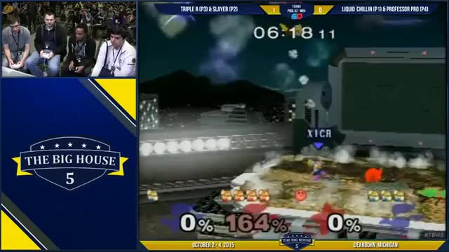 Triple R's Kirby with the double gimp on Professor Pro and Chillindude in Doubles