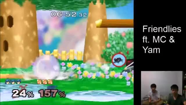 Marth's downsmash as a finisher.