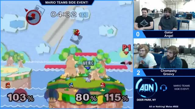Mario bros. only teams side event Kreygasm
