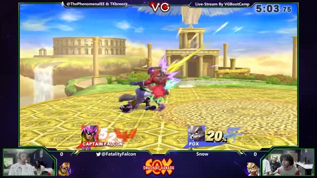 Fatality's Falcon with the crisp dunk on Snow's Fox