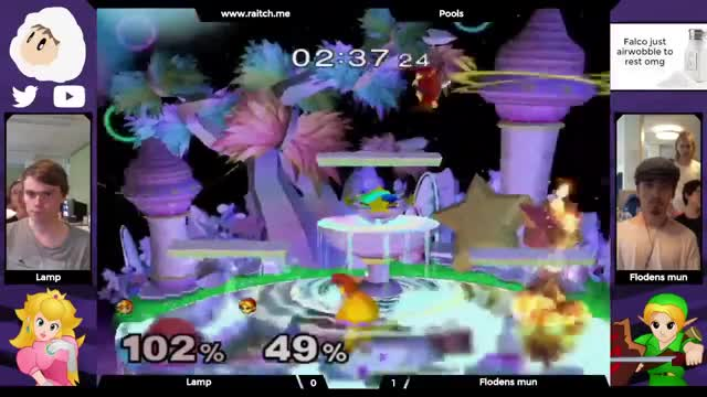 Peach and Ylink in a silly bomb-off