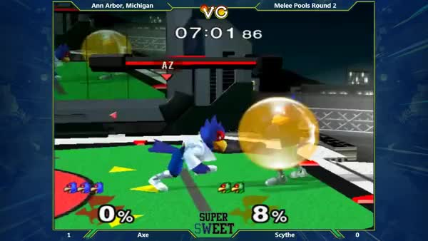 Axe's Falco with the aggressive edgeguard