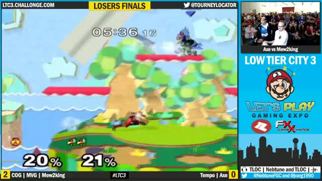 Axe converts off of a laser reset to take Mew2King's stock