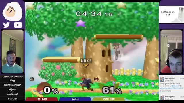 Double slam finish