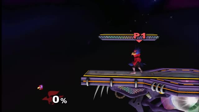 Useless falco tech: battlefield edgecancelled phantasm shorten (x-post from /r/smashbros)