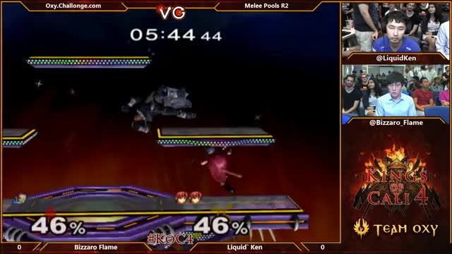 [Marth] Ken perfectly spaces a ledgehop nair.