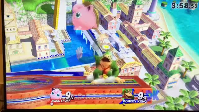 Mixing up Jigglypuff's dair launch trajectory to throw off your opponent's DI.
