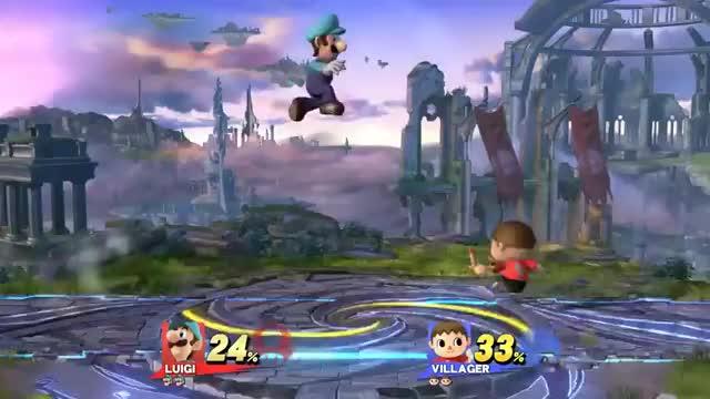 Never airdodge onto Luigi