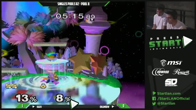 Hax baits out, and punishes OkamiBW's double jump