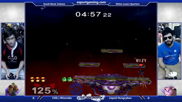 Hungrybox baits and punishes Wizzrobe's shield drop