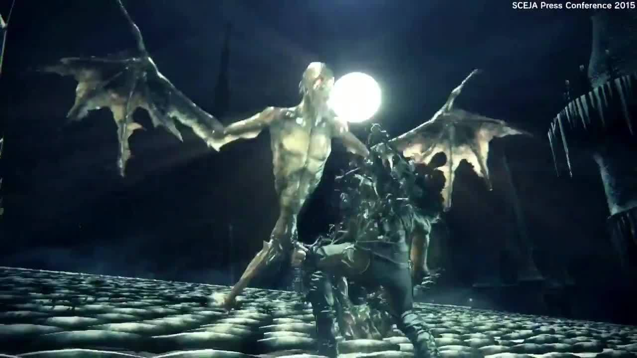 bloodborne the old hunters dlc expansion trailer tgs 2015 rebrn com