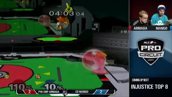 Last stock of Mango vs. Armada in pool play