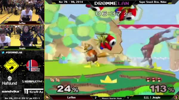 [Falcon]Jeapie with a cheeky recovery against Leffen