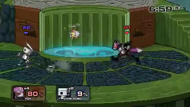 Fox is pretty cool in Smash Flash 2
