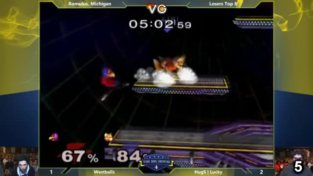 [Melee] Lucky's rising upair to reset Westballz' Falco for the match win in TBH3's Losers Top 8