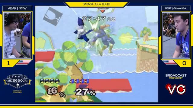 Falco missing an edgeguard, for your (and Scar's) viewing pleasure