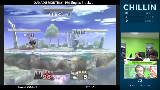 Smash G0D utilizing Mewtwo's b-reverse aura offstage