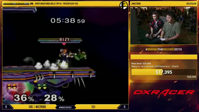 Wizzrobe with a textbook edgeguard vs S2J