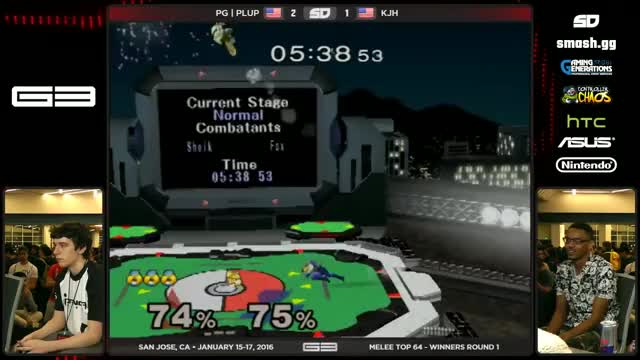 Plup and KJH with some high level Melee