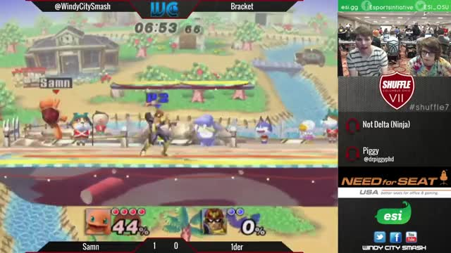 Samn's Squirtle with a quick 0 to Death against Falcon.