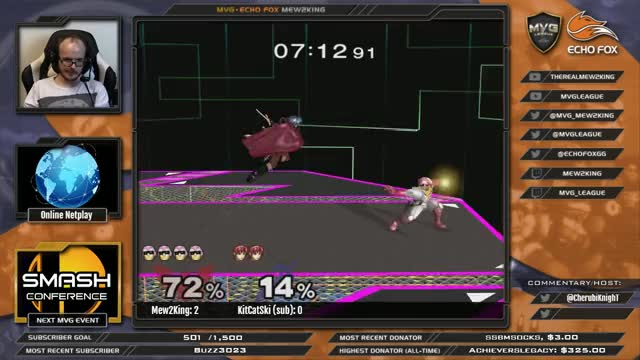 M2K getting Ken combod by a sub(KitCatSki) on stream