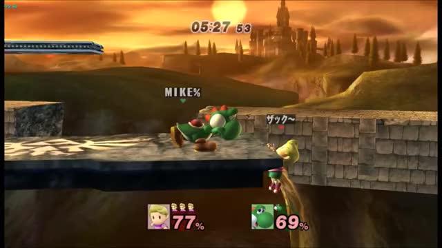Lucas equips Paper Mario's Double Dip