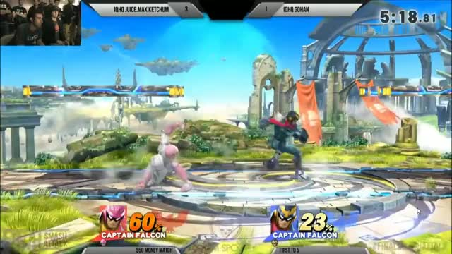 Gohan puts some style on Juice Max Ketchum during Final smash attack