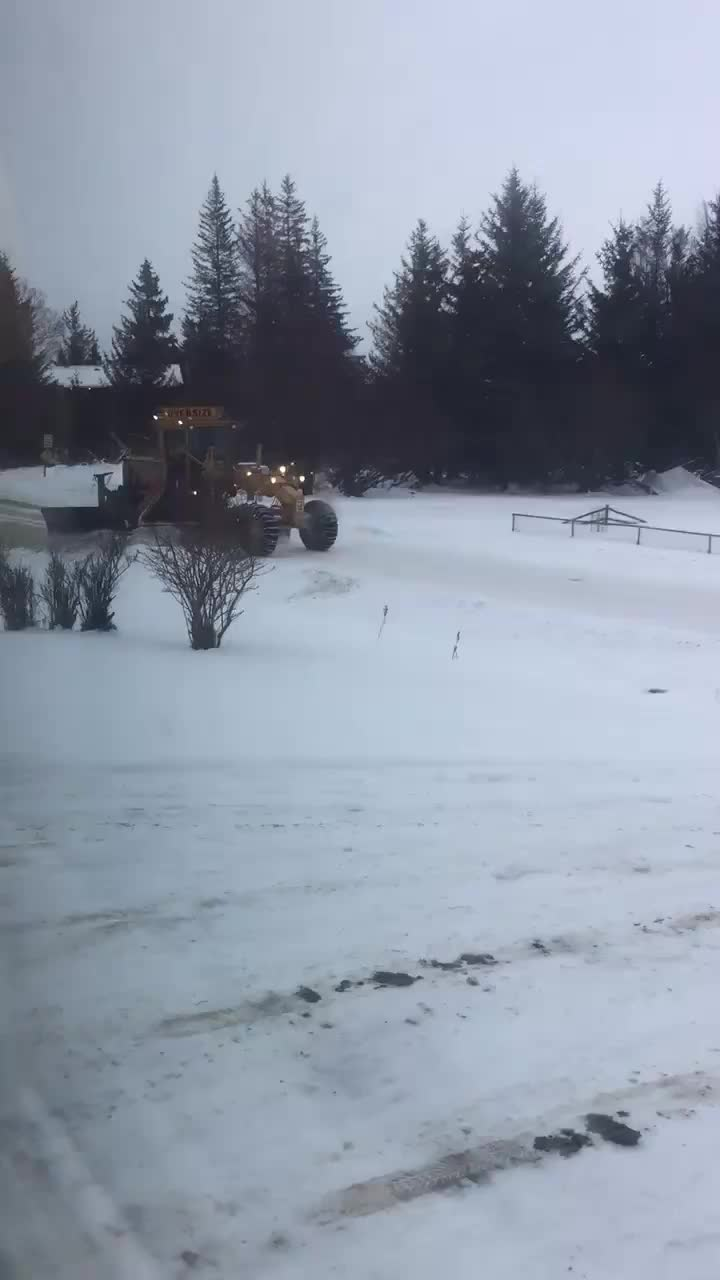 In Alaska, snow plows are able to plow the streets without blocking in driveways.