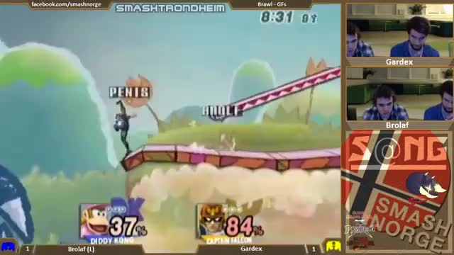 Captain Falcon AT + Up Air Into Up B String