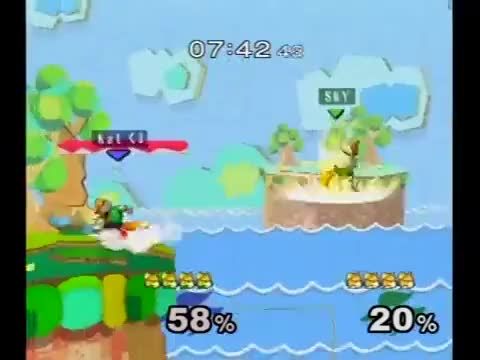 Clean Fox up-smash and up-air string