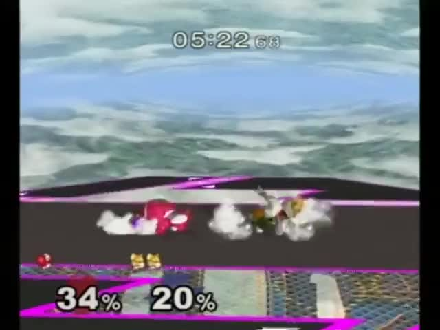 aMSa with a double jab reset combo into a reverse reverse edge guard against Kounotori.