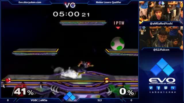 S2J doing Falcon things to Amsa's Yoshi