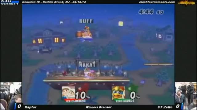 King DeDeDe (Vex) beats Ice Climbers (Nakat)
