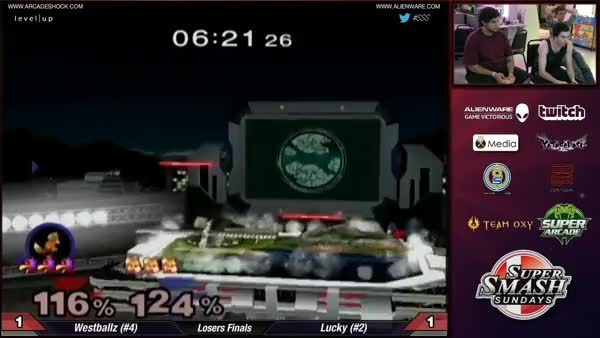 Westballz trying to phase Lucky (Playercam)