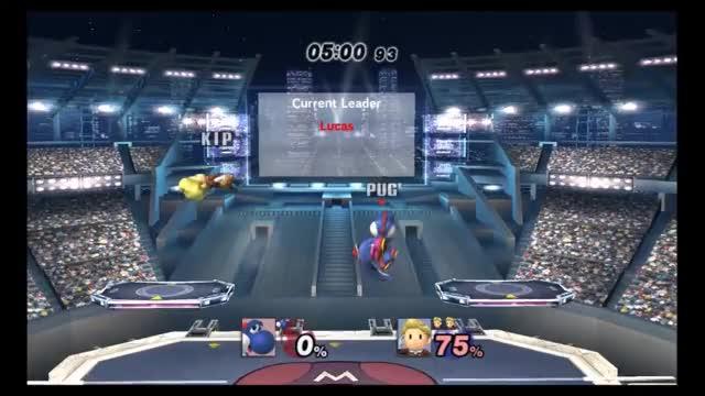 Yoshi's double-edged down tilt
