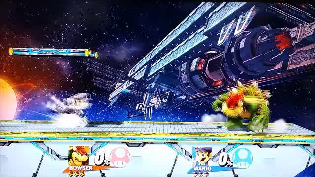 A cheeky Mario zero to death on Bowser.
