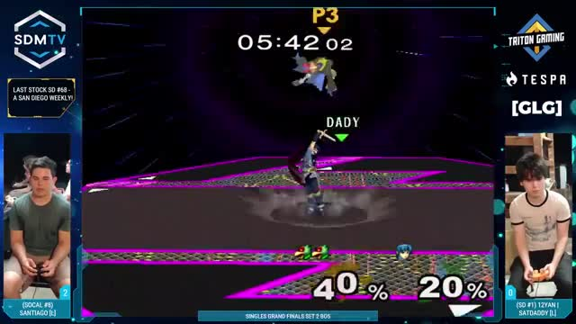 Santi with a fuego falco combo