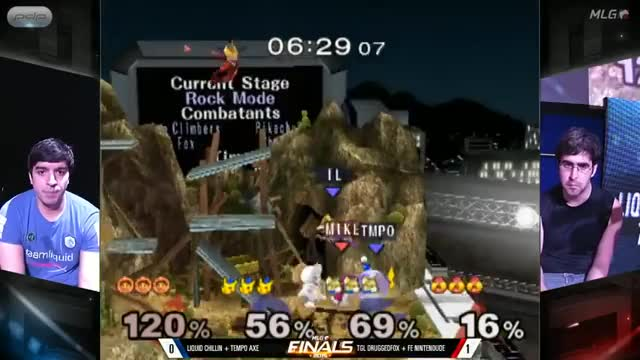 Nintendude/Druggedfox get 3 quick KOs in teams