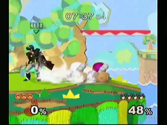 Read at ledge into sub-optimal handoff combo