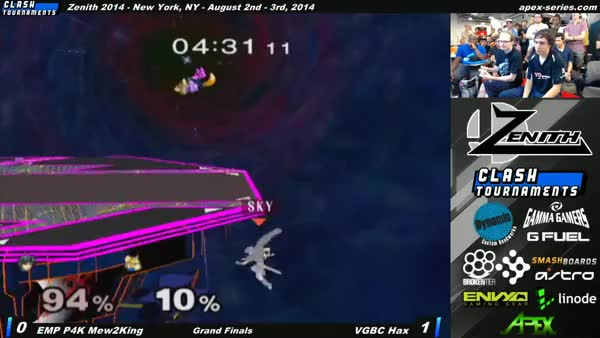 Hax Vs M2K: Reverse-nair-shine-turnaround-upsmash!