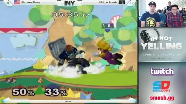 A Rookie lands a sick Mario combo against Bizzarro