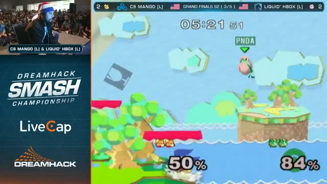 Mango's slick up air out of shield to take Hbox's stock