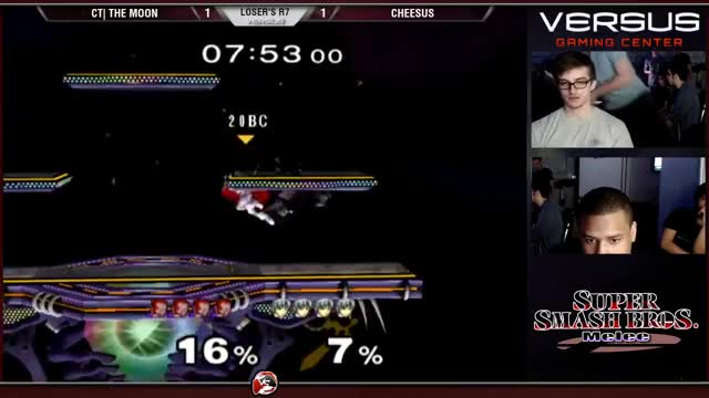 The Moon with a creative edgeguard on Ganondorf