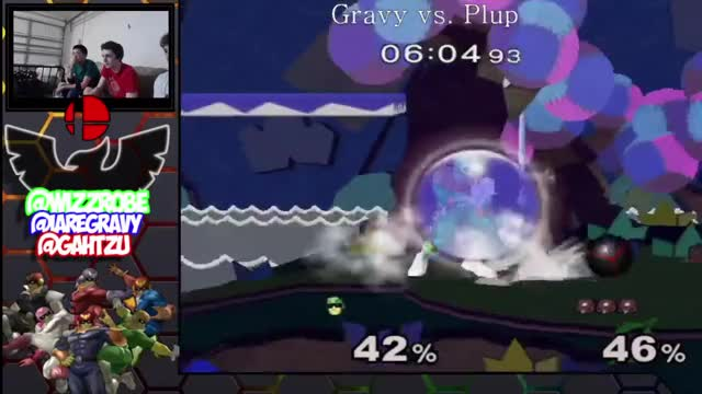 Gravy's beautiful edgeguard combo on Plup