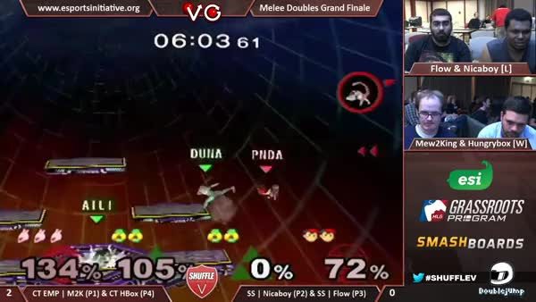 The greatest moment in doubles history.