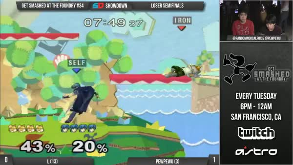 PewPewU with the positional read into sick platform combo