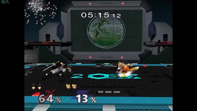Down smash & ledge cancel dairs across Pokemon Stadium