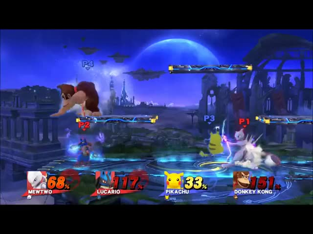 A highly rude Mewtwo+Lucario doubles combo.