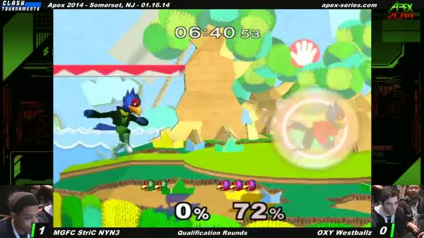 Westballz pulling off a crazy combo and then getting mega greedy.
